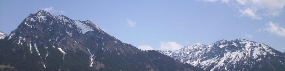 Allgäuer Berge, Aussicht auf Rubihorn und Schattenberg